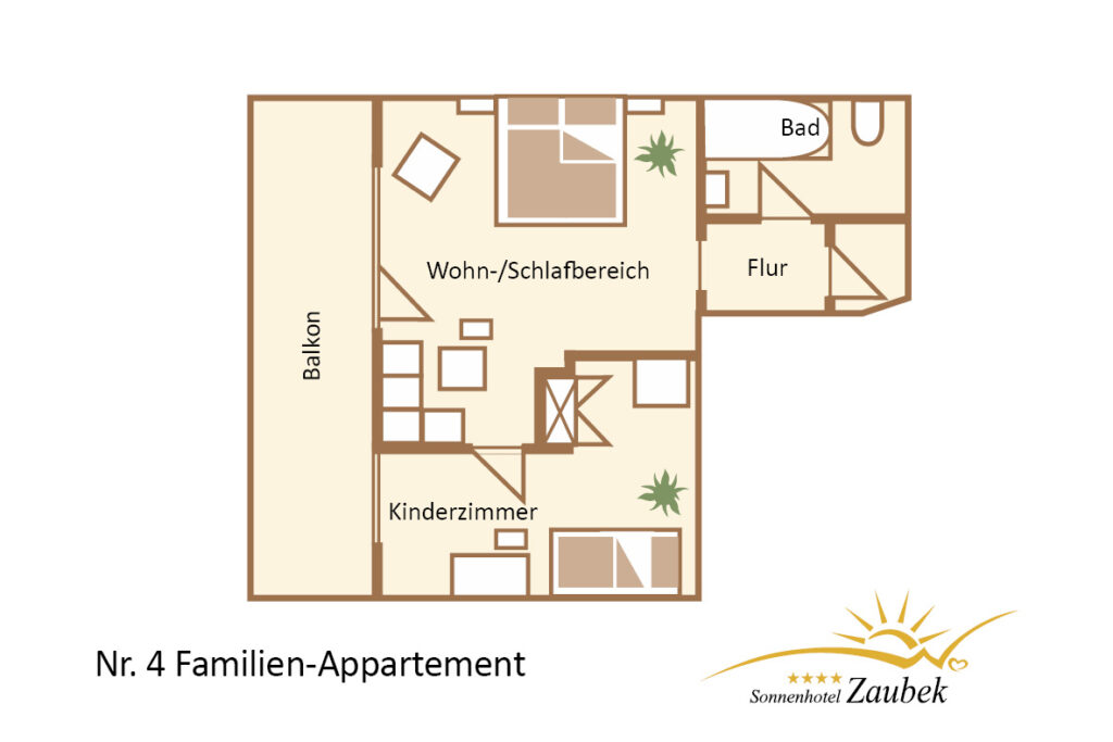 4. FAMILIEN APPARTEMENT 37m2