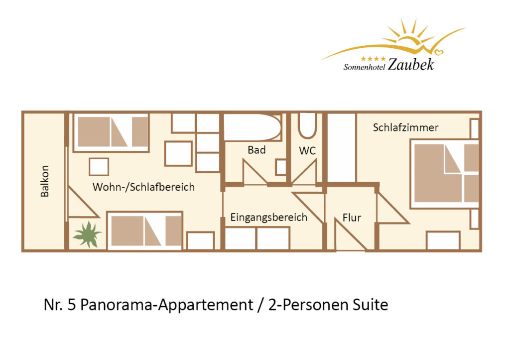 5. PANORAMA APPARTENET2 PERSONEN SUITE 45m2